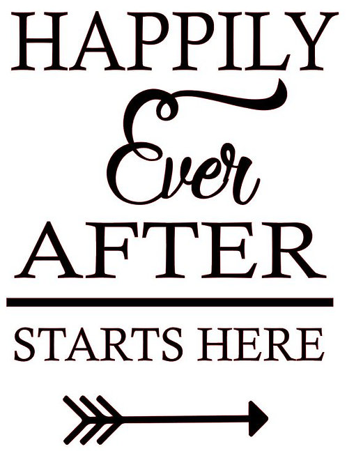 HAPPILY EVER AFTER STARTS HERE 12 X 14 AT HOME KIT