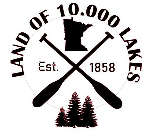 HOME OF 10,000 LAKES 12X12