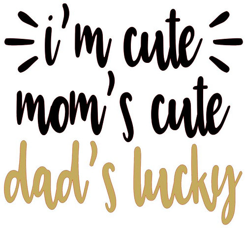 I'M CUTE MOM'S CUTE DAD'S LUCKY 12 X 12