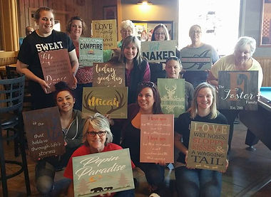 DIY Pallet Sign Party