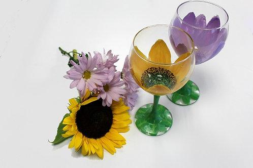 WINE GLASS CLASS FLOWERS