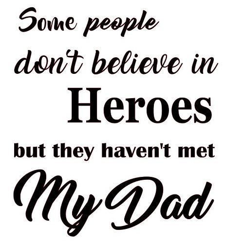 SO PEOPLE DON'T BELIEVE IN HEROS 12 X 12
