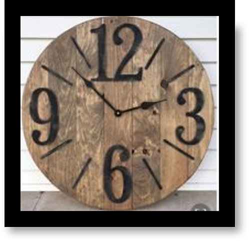 CLOCK WITH BIG NUMBERS -CLOCK