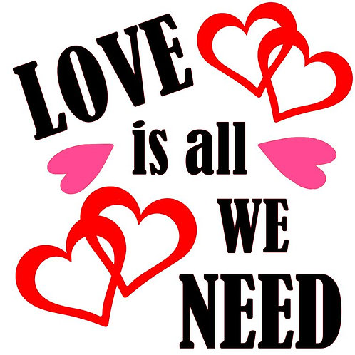 LOVE IS ALL WE NEED  CLOCK
