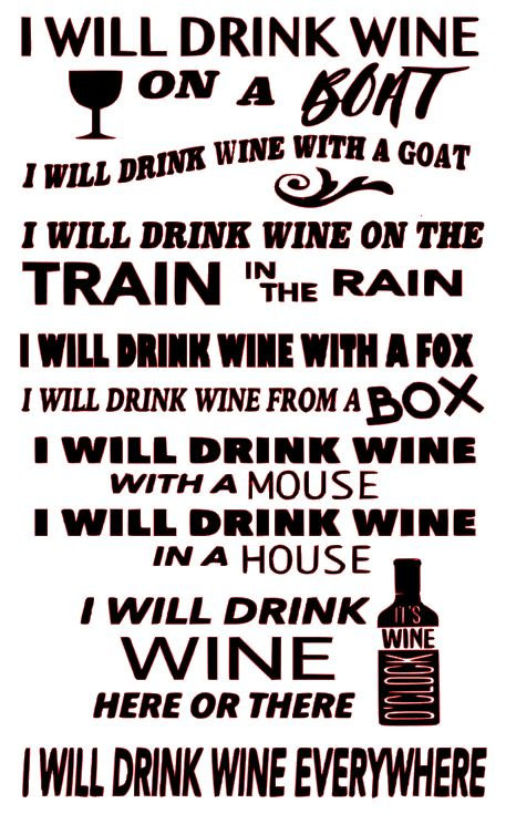 I WILL DRINK WINE  12 X 18