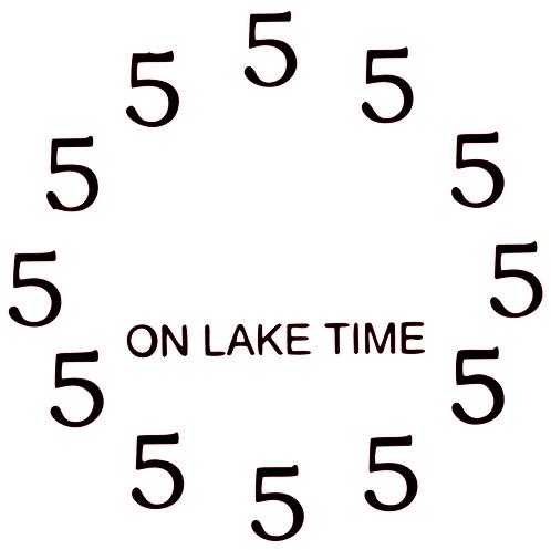 SAYING - ON LAKE TIME