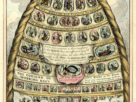 Skep beehive illustration