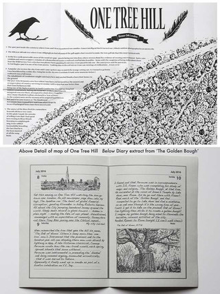 Top : Detail of map Below: diary page from The Golden Bough