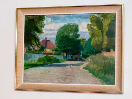 1970's painting of Homestall Road