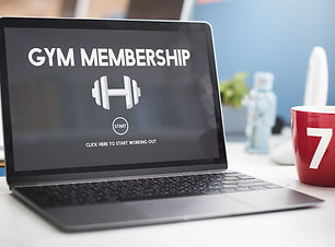 Gym Membership Exercise Weight Icon Conc