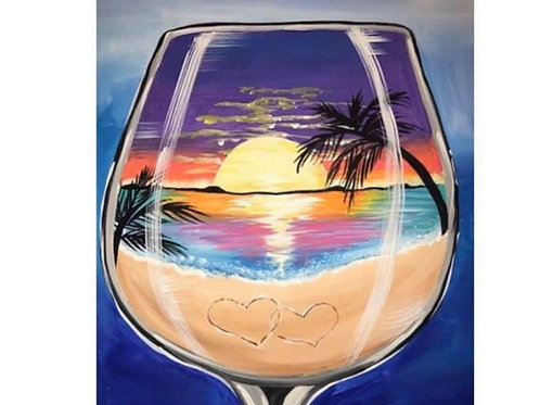 Sunset In Glass