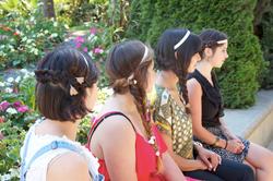 Cours de coiffure en plein air