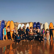 First surf session all together