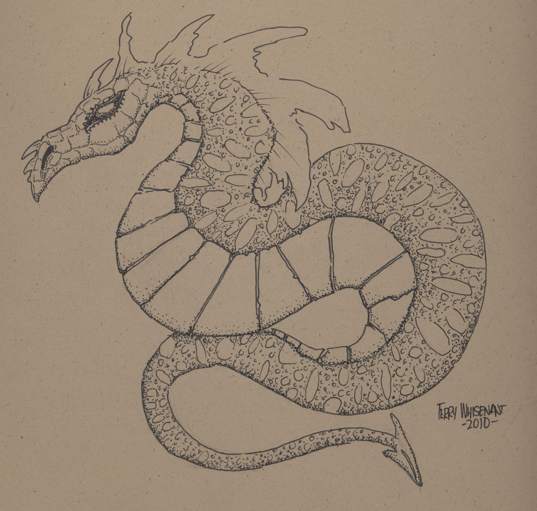 tan dragon