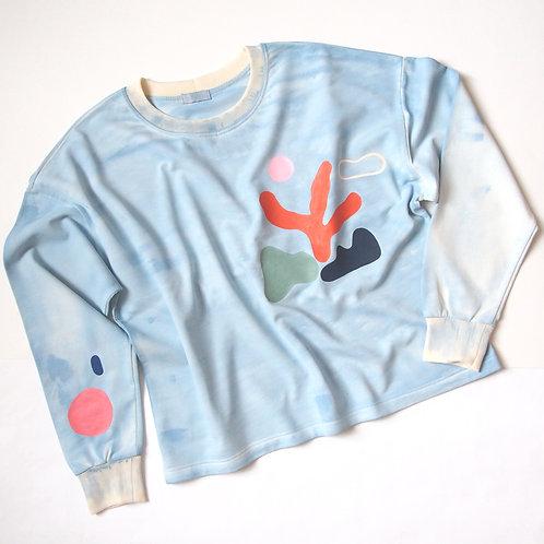 HANDPAINTED SEA sweatshirt