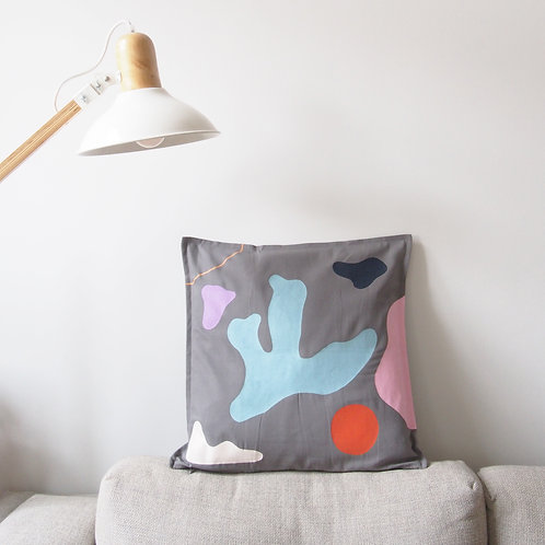 HANDPAINTED ABSTRACT pillowcase
