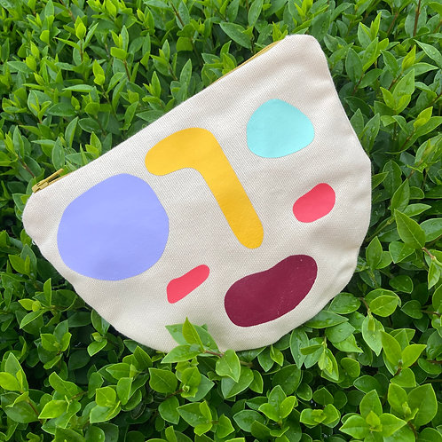 ABSTRACT FACE pouch II.