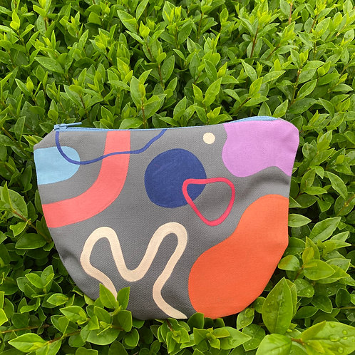 HANDPAINTED ABSTRACT pouch I.