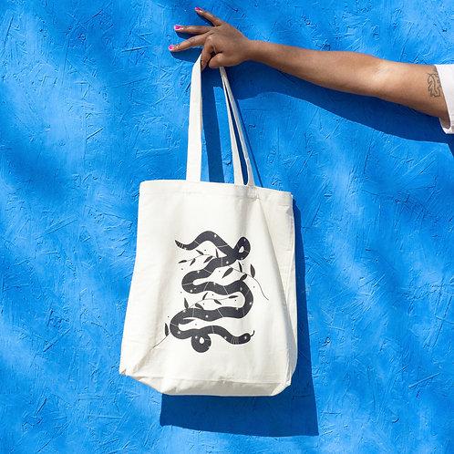 SNAKE big size tote bag
