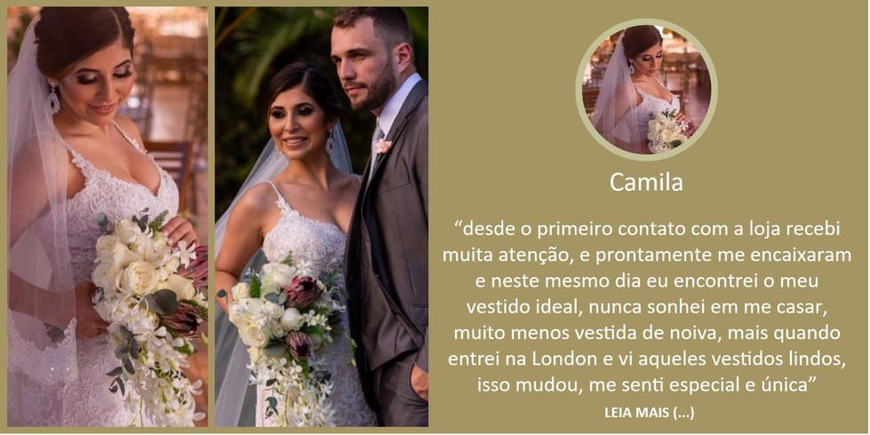 Depoimento Noiva Camilla