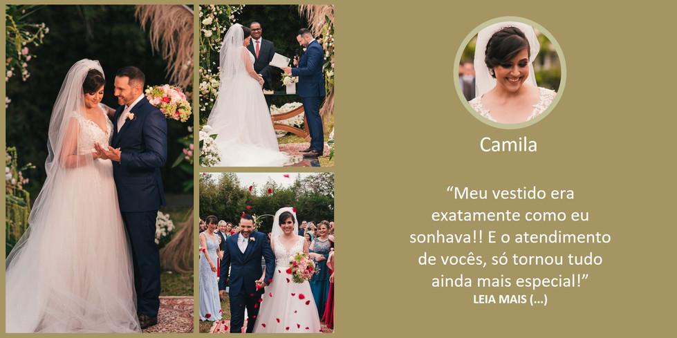 Depoimento Noiva Camila