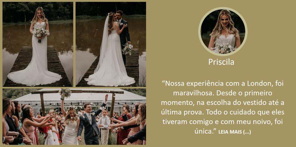 Depoimento Noiva Priscila