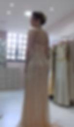 Vestido de festa brilhante de ouro