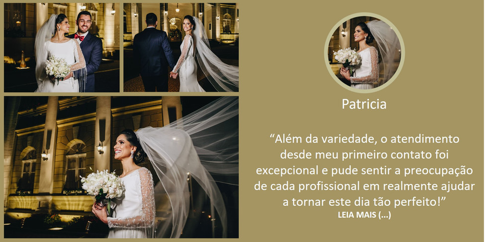 Depoimento Noiva Patricia