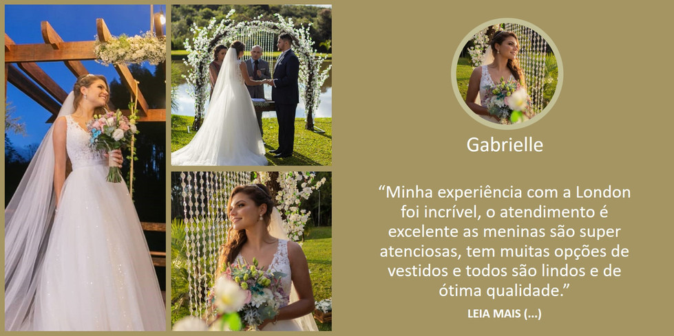 Depoimento Noiva Gabrielle