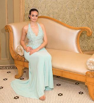 vestido de festa azul bebé