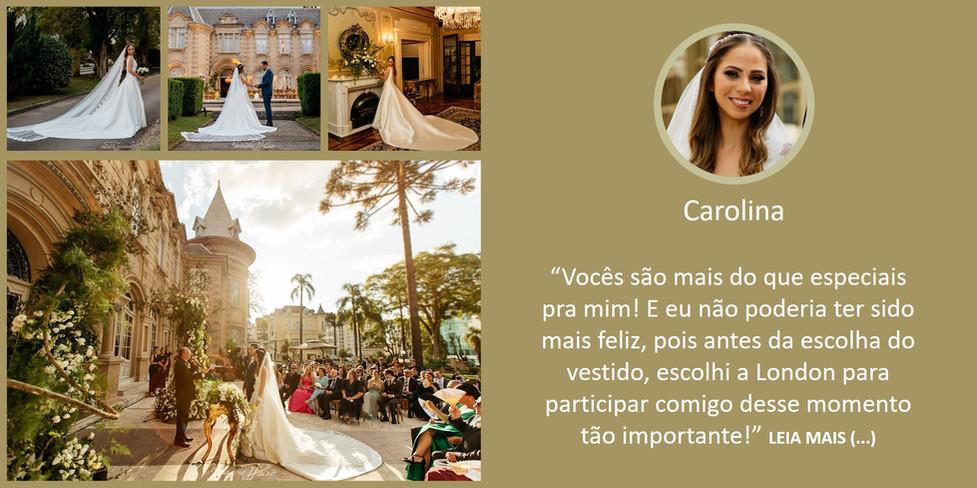 Noiva Real Carolina