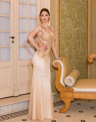 Vestido de festa de ouro