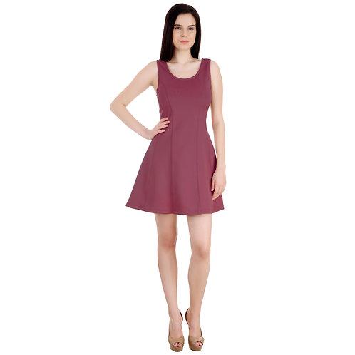 SELFreak-26 - Slim Fit Club Wear Sleeveless Sandwich Stretchy Short Dress