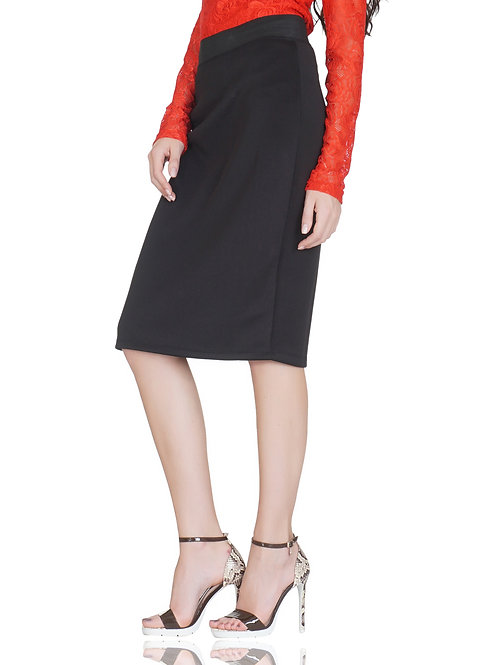 SELFreak-31 - Women's High Waist Stretchable Black Pencil Skirt