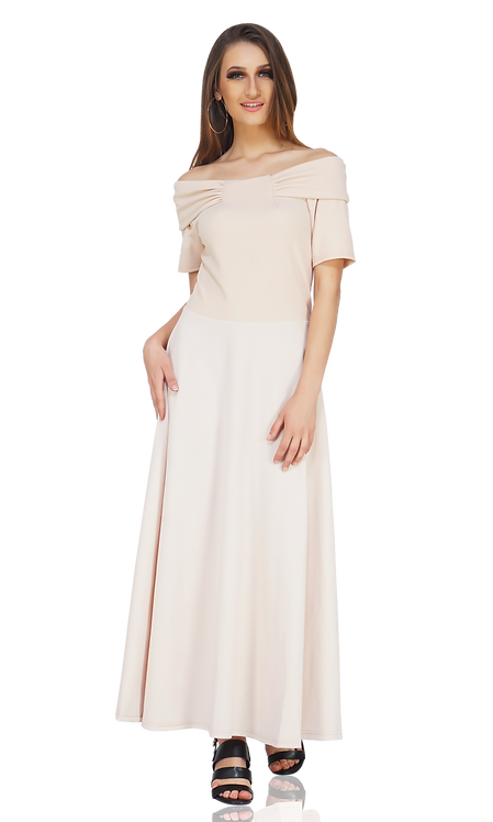 STYLE-47(BOAT NECK GOWN)