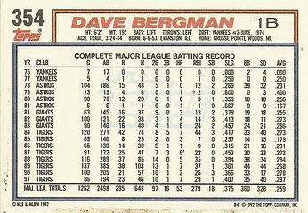Topps Dave Bergman