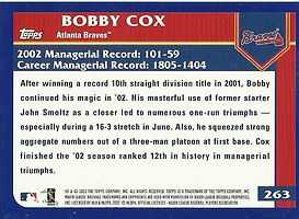 Topps Bobby Cox