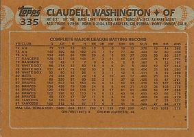 Topps Claudell Washington