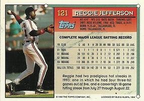 Topps Reggie Jefferson