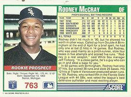 Score Rodney McCray