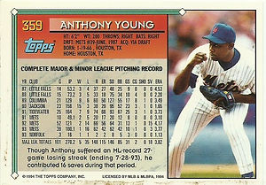 Topps Anthony Young