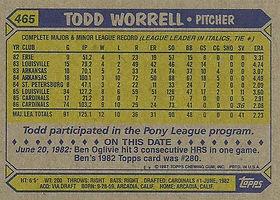 Topps Todd Worrell