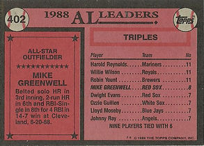 Topps Mike Greenwell