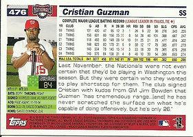 Topps Cristian Guzman