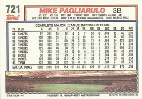 Topps Mike Pagliarulo
