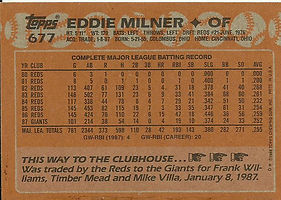 Topps Eddie Milner