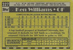 Topps Ken Williams