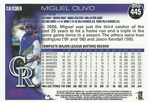 Topps Miguel Olivo