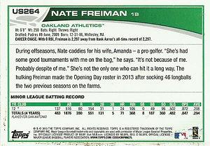Topps Nate Freiman