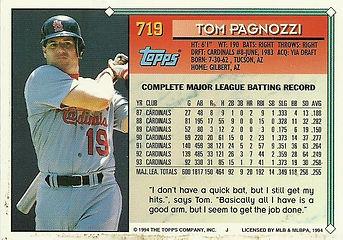 Topps Tom Pagnozzi